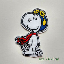 Snoopy Flying Ace Embroidered Cartoon Dog Iron On Patch Goggles Scarf