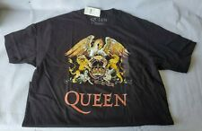 Queen Classic Logo Men's Graphic Band T-Shirt Size XL Black New