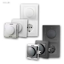 Unterputz Dimmer-Licht-Schalter, matt Serie FLAIR, 230V/300W, UP-Dimmer Wand