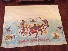 Vintage Harlem Globetrotters Cartoon flat sheet (RARE& VERY HARD TO FIND) !!!!