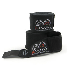 Rival Mexican Hand Wraps 4.5M Black Stretchy Handwraps Knuckle Protection