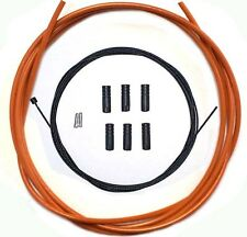Teflon Coated inner Gear Cable Lined Orange Outer Sealed Ferrules MTB Bike 2M