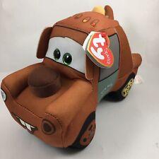 Ty Disney / Pixar Cars 3 Beanie Babies Mater Plush Mwmt's New w/ Heart Tags