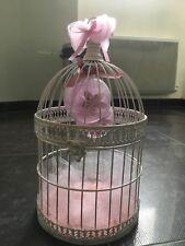 Cage oiseaux deco - Urne ou Centre Table Mariage SHabby Champêtre
