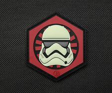 3D PVC First Order GITD Stormtrooper Helmet Patch Star Wars Episode 7 Finn