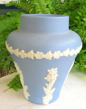 ECANADA JASPERWARE VASE WITH FLORAL DESIGN
