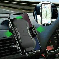10W Qi Wireless Fast Charging Cradle Car Charger Mount Holder Stand For iPhone