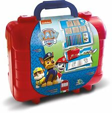 Paw Patrol Kids Art Travel Rubber Stamp and Colouring Pencil Set in Carry Case