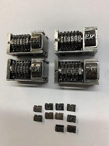 4 Letterpress Standard Model 31 American Numbering Machines