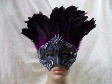 Silver Cassius Eye Mask Purple Feathers Roman Masquerade Greek Sun God Goddess