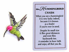 The Hummingbird Symbol of Life and Joy Charm with Story Card!