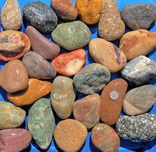 New Listing30 lbs Lot #1 Large Colorful River Rocks Water Feature Aquarium Landscape Pond