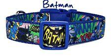 "Batman dog collar handmade adjustable buckle collar 1"" wide or leash"