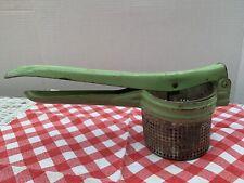 Vintage Green Handled Potato Ricer, Hand Held Ricer, Juicer, Masher