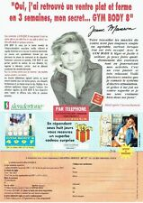 Publicité Advertising 057  1994  Centre  Slendertone gym body &Jeane Manson