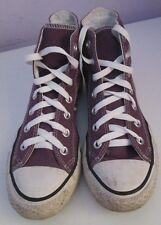 VINTAGE Unisex Chuck Taylor Converse tela beige Hi Top Trainer/numero di scarpe 5.5