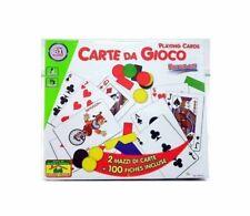 CARTE DA GIOCO 2 Mazzi -Poker, Bridge, Solitario, Burraco, Ramino, Blackjack-