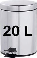20L STAINLESS STEEL METAL WASTE RUBBISH FOOD PEDAL BIN KITCHEN