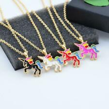 1- Unicorn Necklace Pendant Party Jewelry For Girls Children Kids Halloween Gift