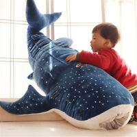 Giant Huge Soft Blue Whale Plush Doll Big Stuffed Animal Shark Pillow Party Toy@