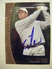 STEWART CINK signed 2001 Upper Deck golf card AUTO GEORGIA TECH Autographed SL21