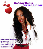 Thick Virgin Human Hair Bundle Wave Straight Curly Closure Frontal Clear/HD Lot