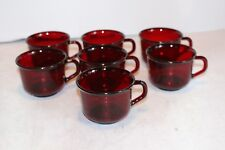 Vintage Arcoroc France Ruby Red Classique Red Glass Coffee Tea Punch Cup 7