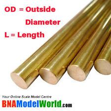 K&S Metals Round Brass Rod - OD: 1mm, L: 300mm (5pcs)