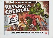 "1977 Vintage ""REVENGE OF THE CREATURE"" USA GGA MINI POSTER Art Plate Lithograph"