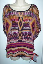 WOMENS TUNIC TOP MEDIUM MULTI COLOR 2 PIECE w/BODY SHAPER NEWw/TAGS RETAIL $60