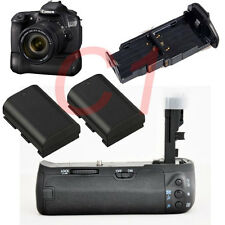 Battery Grip for Canon 60D 60DA REBEL X0D +2pcs LP-E6 BG-E9 BGE9 Battery Camera