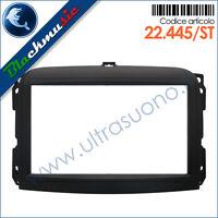 Mascherina supporto autoradio 2DIN Fiat 500L (dal 2012) Nero finitura soft-touch