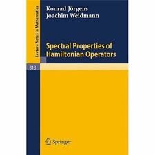 Spectral Properties of Hamiltonian Operators (Lecture Notes in Mathematics)