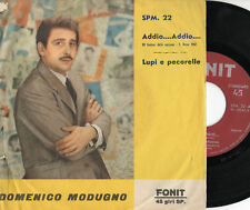 DOMENICO MODUGNO disco 45 giri ITALY Sanremo EUROVISION Addio addio