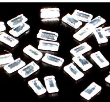 50 pieces  5mm X 2.5mm RECTANGLE GLASS CRYSTAL CLEAR RHINESTONES IRON ON HOTFIX