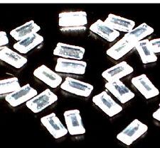 50 piezas 5 mm X 2.5 mm Rectangular De Vidrio Cristalino De Diamantes En Hierro Hotfix