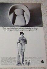 1966 print advertising - Hoover carpet Shampoo-Polisher rug floor wax vintage AD