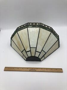 1 VINTAGE TIFFANY STYLE STAINED GLASS WALL SCONSE MISSION ARTS AND CRAFT STYLE
