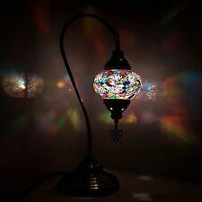 Turkish Marocain Coloré Mosaïque Lampes Clair Tiffany Bureau En Verre Table
