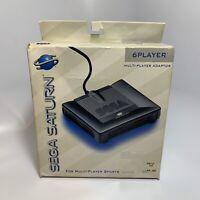 Sega Saturn 6 Player Multi-Tap •Multiplayer Adaptor Multitap MK-80102 •NOS CIB