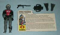 1985 GI Joe Cobra Frogman Scuba Diver Eels v1 Figure w/ File Card *Not Complete