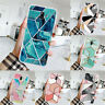 For Samsung Galaxy J3 J5 J4 J6 J7 Soft Geometric Marble Silicone TPU Case Cover
