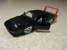 1969 DODGE CHARGER DAYTONA 1:32 DIECAST OPENING DOORS PULLBACK ACTION BLACK