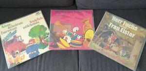 Kinderschallplatten Vinyl Konvolut Der Gestiefelte Kater, disney etc.