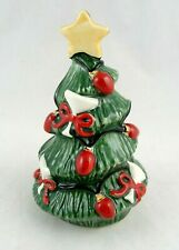 Fitz and Floyd Cheers Christmas Tree Pepper Shaker with Stopper 2006