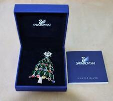New Box Certif Swan Silvertone SWAROVSKI Crystal 2005 ROCKEFELLER CENTER Brooch
