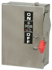 GE 30 Amp 240 Volt 3 Pole Fusible Nema 4/4X Stainless Disconnect Cat # TH4321SS