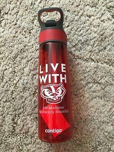NEW Contigo University of Wisconsin-Madison University Housing Red Water Bottle