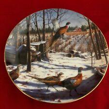David Maass Pheasant Plate Collection~Danbury Mint~F7655~A Winter Rainbow