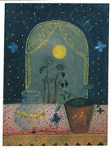 Kunstpostkarte - Max Peiffer-Watenphul:Stilleben mit Goldfischglas u. Blumentopf